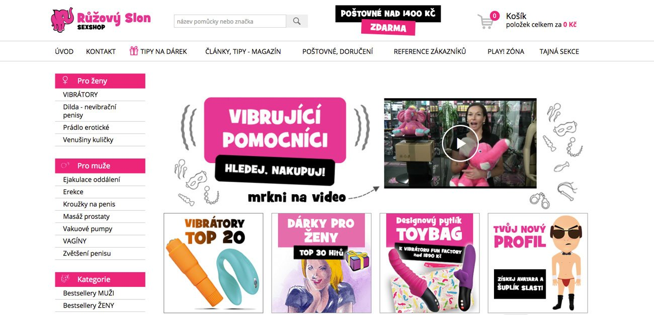 RECENZIA sexshopu Ruzovyslon.cz – skúsenosti, nákup, ponuka…